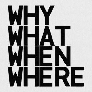 Ultrapulp Alpha, why what when where. Estampe typographique contemporaine originale signée.La série Alpha emprunte ses sources à la littérature, à l'histoire, au monde des affaires et de l'entreprise ou encore au langage de la pop culture. Cette édition limitée tiré à partsur toile par l'artiste, utilise une grille et l'emploi d'intervalles inattendus entre les mots et les lettres pour créer une rupture de sens.