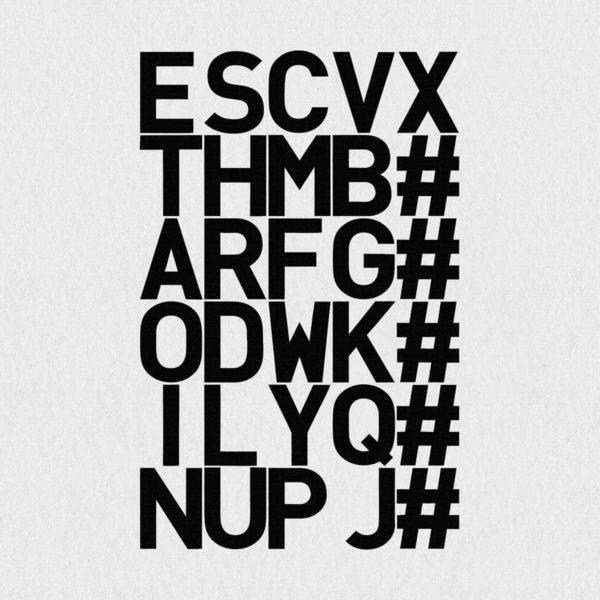 Ultrapulp Alpha, tribute to Linotype. Estampe typographique contemporaine originale signée.La série Alpha emprunte ses sources à la littérature, à l'histoire, au monde des affaires et de l'entreprise ou encore au langage de la pop culture. Cette édition limitée tiré à partsur toile par l'artiste, utilise une grille et l'emploi d'intervalles inattendus entre les mots et les lettres pour créer une rupture de sens.